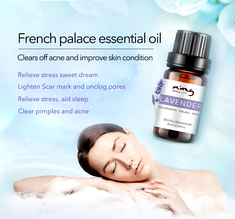 EXPRESSIONS 100% Pure Lavender Essential Oil for Acne Treatment Fade Acne Marks Remove Whelk Shrink Pore Face Care Help Sleep 9
