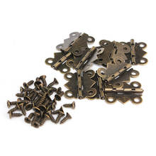 High Quality 10Pcs Cabinet Door Hinge 4 Holes Butterfly Bronze Tone 20mm x17mm Special Design