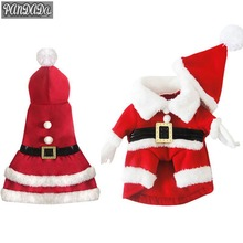 panDaDa Puppy Pet Clothes Dog Christmas Outwear Coat Santa Claus Costume Hoodie Apparel Roupa Cachorro Natal Para