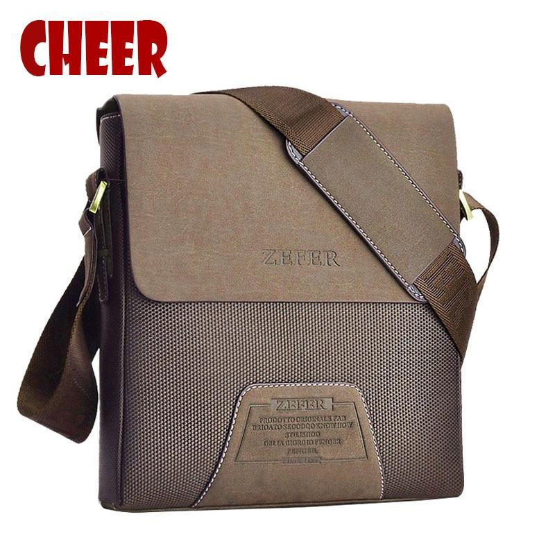 2017 Fashion Men Bag men Messenger Bag PU Leather Famous Brand Shoulder Bags Vintage Cross body men Bags Designers High Quality<br>