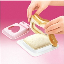 Hot Love Heart Shaped Safe New Arrival Home Essential Sandwich Maker Mould Cutter Bread Toast Making Mould Kitchen Accessories(China)