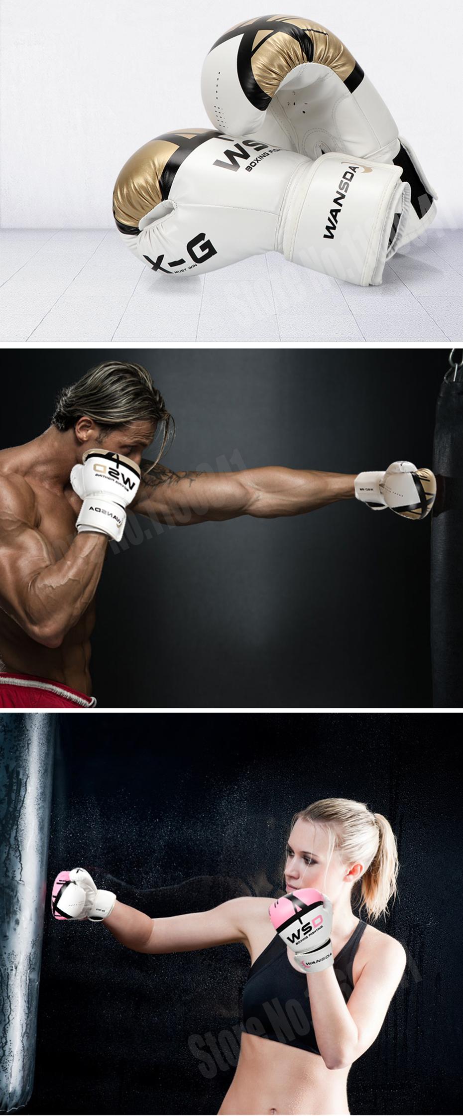 18 New Pink/Gold Men/Women Boxing Fitness Gloves for Sandbag Punch Training MMA Muay Thai Sanda Karate Mitt Equipment 3