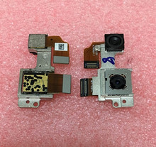 Back Rear Big  Cam back camera+Small Camera Module With Metal Bracket Connector Flex Cable For HTC One M8 free shipping