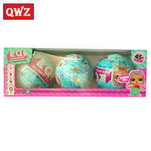 QWZ 3pcs 9cm LOL Surprise Doll Magic Funny Removable Egg Ball Doll LOL Surprise Doll For Kids Toys Christmas Gifts