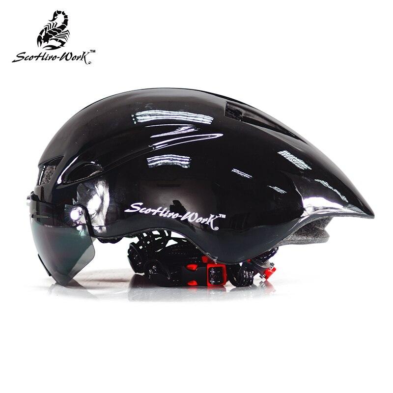 ultralight EPS Cycling helmet for men road mtb mountain bike helmet lens goggle bicycle equipment Casco Ciclismo casque velo <br>
