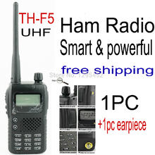 FREE SHIPPING FREE PTT Earphone Original TH-F5 UHF Two Way Radio with 2100Mah battery Cheap Walkie Talkie LPD433 TH-F5