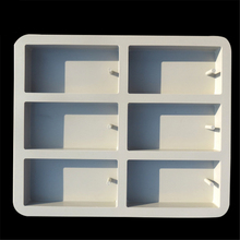 6 Holes Rectangle Silicone Cake Mold Bakeware Home Baking Cake Pans Chocolate candle Mold E681(China)