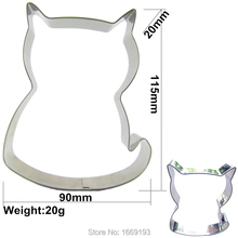 Super Coffee Cat Shape Cake Decorating Fondant Tools,Animal Graphics Cake Cookie Biscuit Baking Molds,Direct Selling