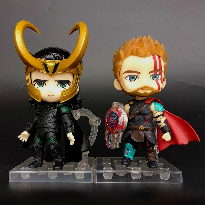 Anime Marvel Avengers Thor Odinson Nendoroid 863 & 866 Cute Kawaii Super Hero 10cm Action Figure Toys (5)