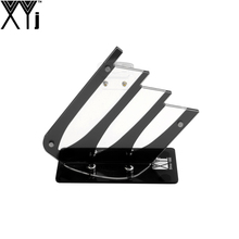 "XYj Black Knife Stand Can Put 3"" 4"" 5"" Ceramic Knife + One Peeler Eco-Friendly Acrylic Knife Holder Well Packed Nice Delivery(China)"