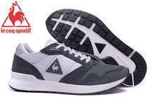 2017 Latest Version Le Coq Sportif Men's Running Shoes Sneakers New Colors Men's Sports Shoes Grey/White Color 6 Size 40-45(China)
