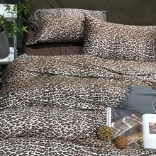 Fascinated leopard designer bedding set 100% Egyptian cotton bedding queen king size soft duvet cover bed sheet pillowcases