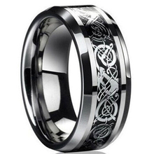 Freeshipping new punk ring for lover Vintage engagement Dragon steel Ring for Men & women lord Wedding rings(China)
