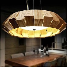 LED Pendant Lights Wood Primary Colors Pendant Lamps for Home Dinning Living Room Lighting Lamparas Colgantes Luminaria Pendente(China)