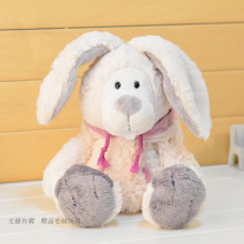 candice guo! super cute Nici snow rabbit plush toy Meng bucktooth hooded bunny soft stuffed doll birthday gift 1pc