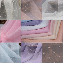 150cm width 100% Polyester Colors Dot chiffon fabric georgette fabric for DIY garment, interlining,curtain,bridal,scart