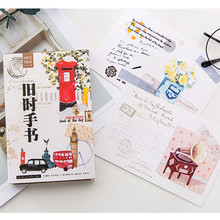 MISS TIME old handwriting postcard greeting card Bookmark Letter paper 1 lot = 1 pack = 30 pcs(China)