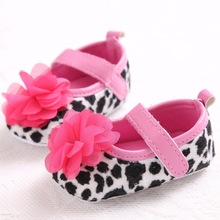 Leopard Red Flowers Baby Girls Dress Shoes Indoor Soft Non-Slip Toddler Shoes Prewalkers Slippers Ballet Shoes Footwear 0-1T(China)