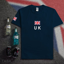 United Kingdom Great Britain t shirt man 2017 t-shirts cotton nation team cotton fans tees clothing apparel costume England GBR