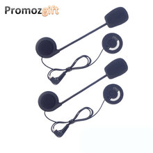 2 PCS Earphones Accessory for FDC-VB/TCOM-VB/TCOM-SC Celular Moto BT Bluetooth Motorcycle Interphone Helmet Intercom Headset(China)