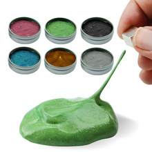 6 Colors Novelty Funny Toys Rubber Mud Strong Plasticine Putty Magnetic Decompression Toys Gift XQ56