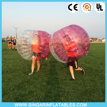 Free shipping 0.7mm TPU 1.8m diameter inflatable soccer ball,bubble football,zorb ballz for big heavy players(China)