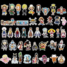 42Pcs Combinations Fun Ripndip Waterproof Stickers For Car Laptop Luggage Skateboard Snowboard Decal Doodle One Piece sticker