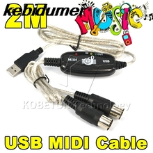 kebidumei kebidumei 2016 Newest USB TO Keyboard PC MIDI Interface Adapter Cable 2M For PS2 CUBASE Cakewalk PC Computer XP 7 8(China)