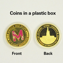 Gold Plated Coin Miracle Mile Shops At Planet Holywood Wholesale Uncirculated Custom Metal Coins(China)