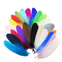500pcs/lot!15-20cm long Mixed color Goose Feathers,Hat Trimming,Feathers for Millinery,Fascinators&Crafts(China)