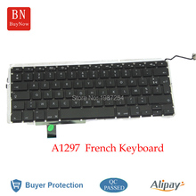 "17"" A1297 French Keyboard For Macbook Pro A1297 FR France French Keyboard With Backlight"