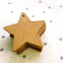 P006 Free shipping 6cm*6cm wholesale homemade Kraft paper tags bookmark mood message card DIY scrapbook accessories 100pcs