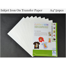(A4*50pcs) Top Quality Inkjet Heat Iron On Transfer Printing Paper Iron-on Transfers Papel Houshold Thermal Transfer HT-150EX(China)