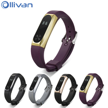 Buy Ollivan Xiaomi Mi band 2 ABS Bracelet Strap Metal Frame Wristband Silicone Rubber Replacement Straps Smart Band Miband 2 for $5.98 in AliExpress store