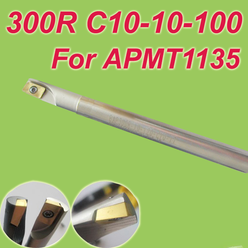 Free Shiping  300R C10-10-100 Insertable Square End Mill Cutting Tools for APMT1135<br><br>Aliexpress