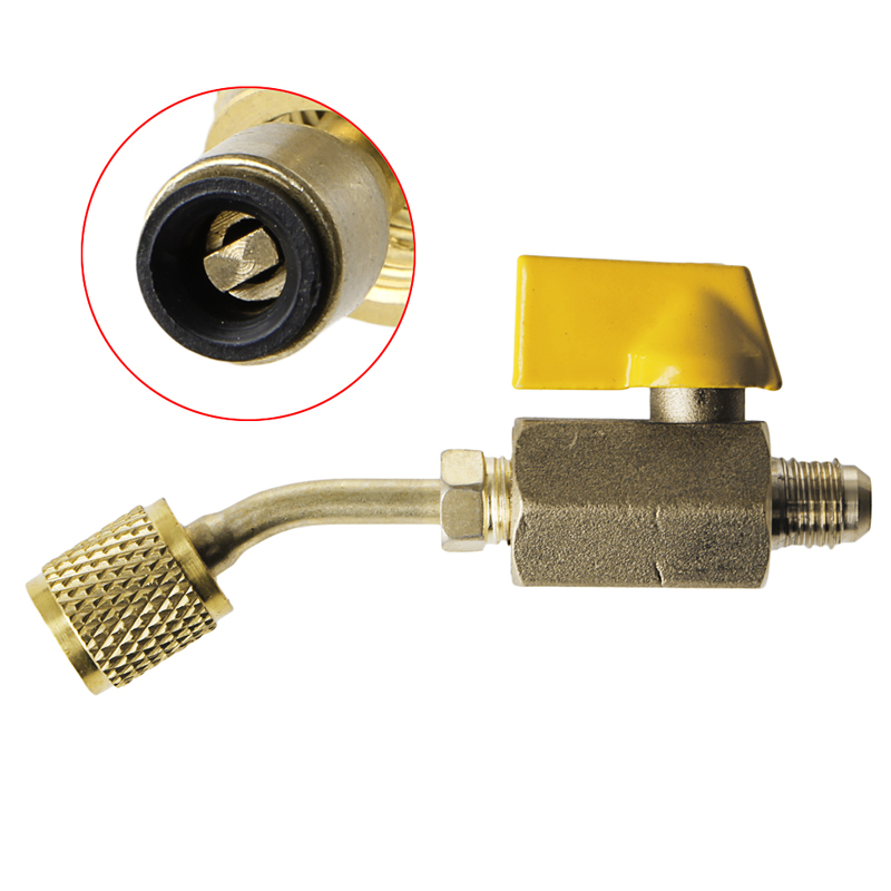 1PC HVAC Tools Gauges Brass Shut Thread Tool Valve Refrigerant R410a R134a HVAC For A/C Charging Hoses(China (Mainland))