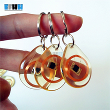 13.56MHZ MF 1K S50 FM11RF08 F08 NFC Transparent Trops of Glue Card RFID Key Tag Key Ring(China)