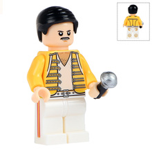 Single Sale WM443 Freddie Mercury The Lead Vocalist Of The Rock Band Queen Model Action Figures Building Blocks Children Toys(China)
