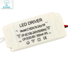 18-24W Plastic Shell  LED Driver Power Supply Adapter AC90 - 265V DC63-85V Constant Current 300mA Transformer Led Lamp DIY