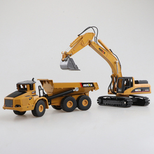 High Quality 1:50 Alloy Excavator/Trailer Model Set Engineering Vehicles Collection Gift