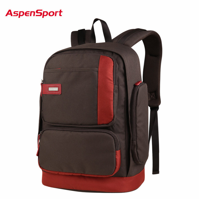 AspenSport 2017 Fashion Mens Laptop Backpack Unisex High Abrasion resistance Backpack Women Notebook Bag Student Backpack Gifts<br>