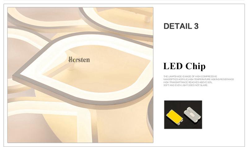 Horsten Remote Control Modern LED Ceiling Lights For Living Room Bedroom Acrylic Ceiling Lamps Flower Design Celing Lamp 90-260V (20)