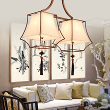 Modern simplicity Chinese ceiling lamps antique iron style lamps creative retro bedroom Ceiling Lights LO7219(China)