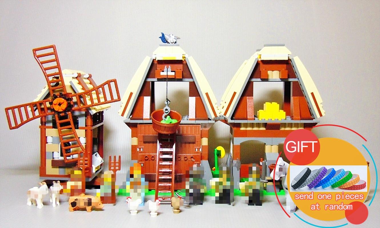 16049 1010Pcs Creative Series The Mill Village Raid Set 7189 Building Blocks Bricks Educational Christmas gifts<br>