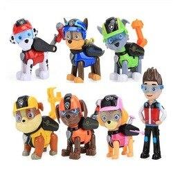 7 шт./набор, детские игрушечные модели «Собачий патруль»