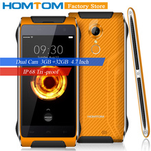 HOMTOM HT20 Pro Smartphone IP68 Waterproof 4G-LTE MTK6753 Octa Core 4.7 Inches 3G+32G 8MP+16MP Camera 3500mAh WiFi Mobile Phone