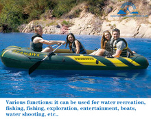 4 person 272*156*48cm pvc inflatable boat fishing raft boat PVC kayak rowing boat paddle oar pump seat cushion bag rubber ding(China)