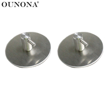 OUNONA 2pcs 70mm Bath Hooks Stainless Steel Bathroom Towel Hook Stick Wall Hooks Clothes Hanger Holder for Home Kitchen