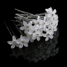 20Pc/Set Women Crystal Rhinestone Flower Hair Pin Clips Women Wedding Bridal Barrettes Hair Accessories Jewelry(China)