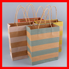 120 pieces/lot shopping gift paper bag with handles(China)